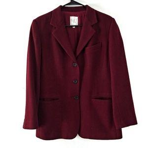 🍂 HP 🍂100% Wool vintage Maroon Blazer